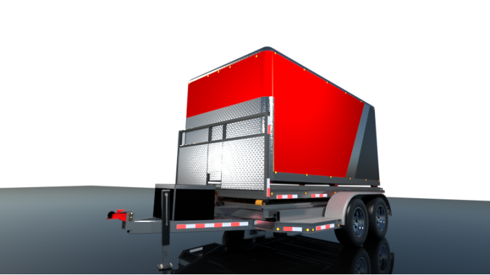 500$ - Reservation - Multi 4 in 1 Trailer - 7'X16' - Standard Hitch - High Performance