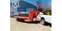 500$ - Reservation - Multi 4 in 1 Trailer - 6'X12' - HD Series Beef-Built - Gooseneck Hitch - High Perforance