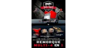 350$ - Reservation - 25% OFF Remorque Multi 4 en 1 - Attache Gooseneck